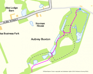 Aubrey Buxton Nature Reserve walking route