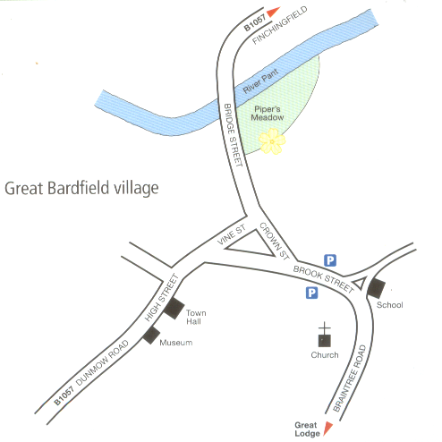 Great Bardfield village map